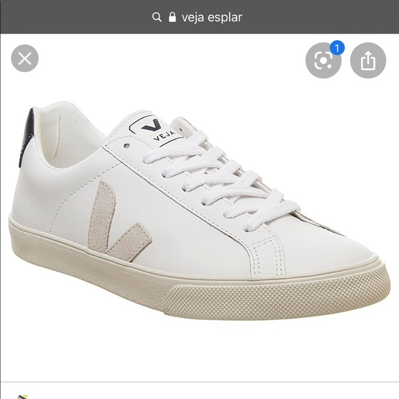 Euc Veja Esplar Sneakers In White Beige